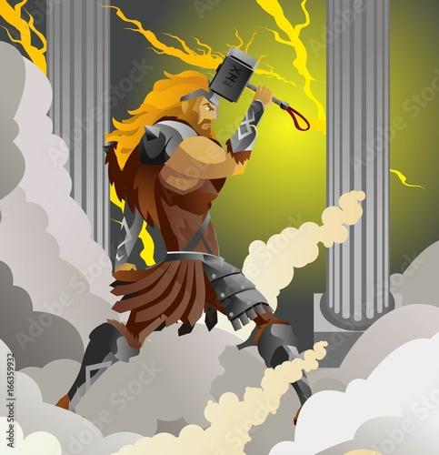 Photo  thor norse nordic mythology thunder ray god