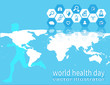 running healthy concept modern healthcare map world element of this image furnished by NASA