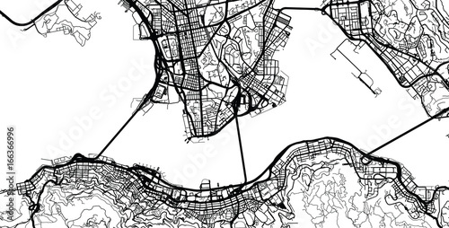 Obraz na plátně Urban city map of Hong Kong