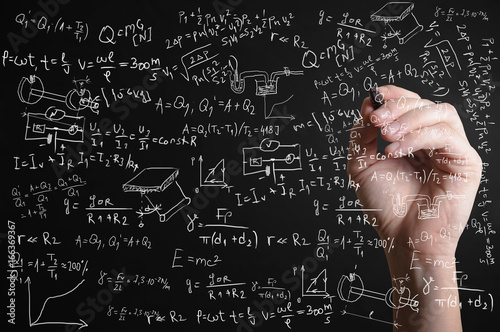 Hand drawing formula from many different subjects.