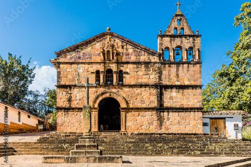 Spoed Foto op Canvas Zuid-Amerika land Capilla de Santa Barbara Barichara Santander in Colombia South America