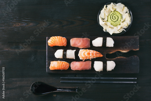 Fotografie, Obraz  Set of sushi