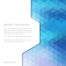 Abstract Background In Isometric Style. Geometric Pattern.