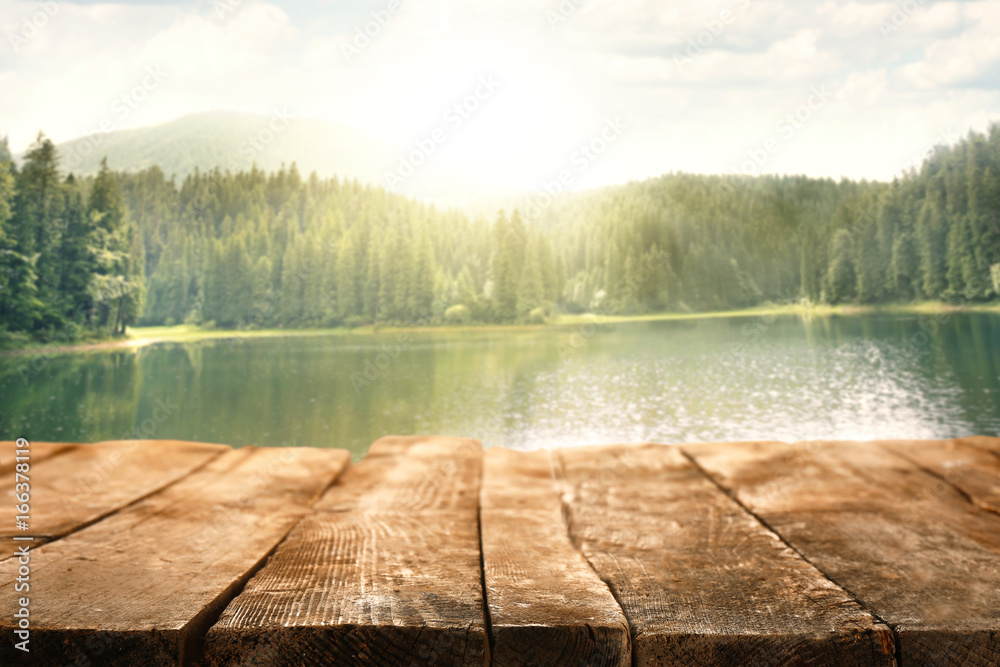 Fototapety, obrazy: Beautiful mountain lake in forest