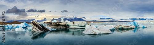 Plakat Islandzki Zalew Lodowiec