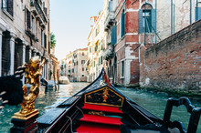 Riding In A Venice Gondola