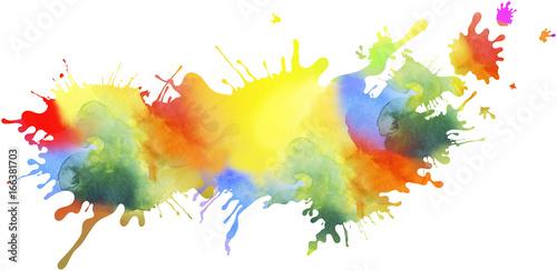 kleckse farben regenbogen freigestellt Wallpaper Mural