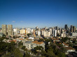 Aerial view of Curitiba cityscape, Parana State, Brazil. July, 2017.