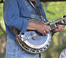 Banjo Player And Mic