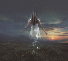 Woman Fading Away