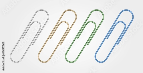 Photo  Set of Multi Colored Paper Clips