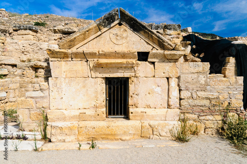 Saint Philip's burial tomb (80AD) at Hieropolis, Pamakkule, Turkey Canvas Print