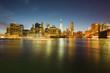 Cityscape of Manhattan by night