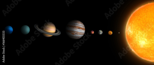 Canvastavla solar system  3В