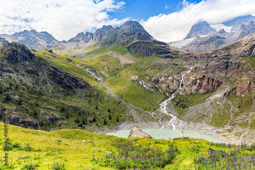 Valmalenco (IT) - Panoramica alla diga di Alpe Gera in zona Rifugio Bignami Canvas-taulu