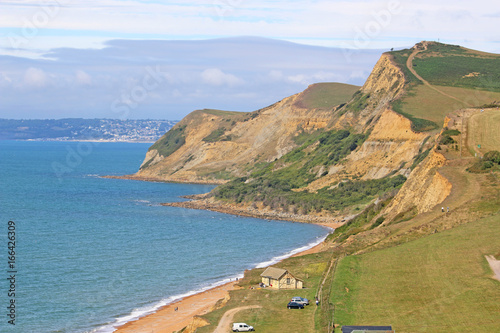 Deurstickers Kust Coast at Eype, Dorset