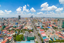 Aerial View Of Phnom Penh, Cam...
