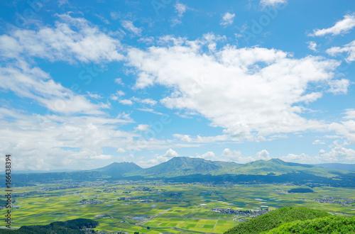 Fototapete - 阿蘇 大観峰からの眺望