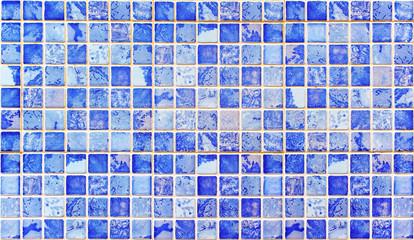 Panel Szklany Podświetlane Mozaika Fondo de gresite azul