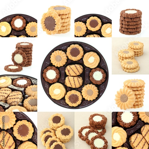 collection cookies set on white background Canvas