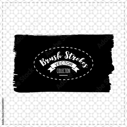 Tuinposter Vormen Black brush stroke and texture. Grunge vector abstract hand - painted element. Underline and border design.
