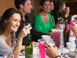 People talking during dinner