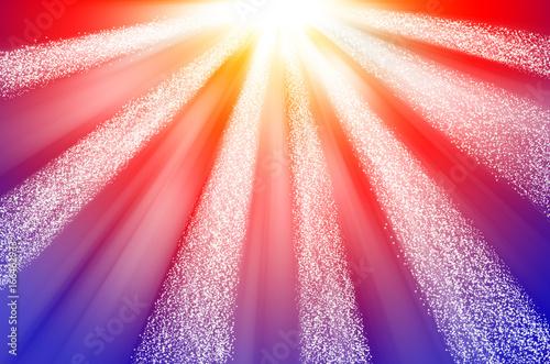 Gold Red Blue Glitter Sparkles Defocused Rays Lights Bokeh