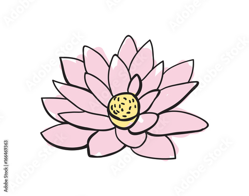 Lotus flower hand drawn icon isolated on white background vector lotus flower hand drawn icon isolated on white background vector illustration indian ethnic culture element mightylinksfo