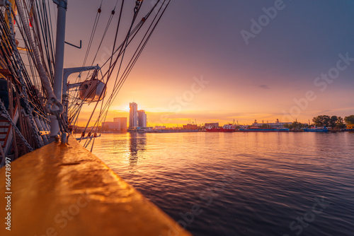 Photo Stands Ship Yacht port in Gdynia