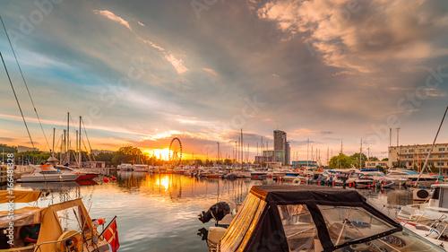 Yacht port in Gdynia