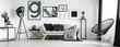 Leinwanddruck Bild - Artist's living room