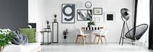 Black Wall In Artistic Flat