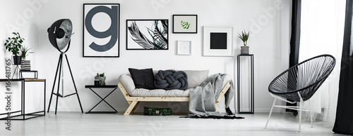 Obraz Artist's living room - fototapety do salonu