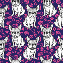Seamless Cute Pattern With Fre...