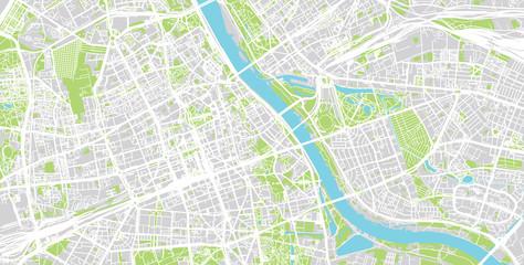 FototapetaUrban city map of Warsaw, Poland