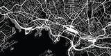 Miejska mapa miasta Oslo, Norwegia - 166488934