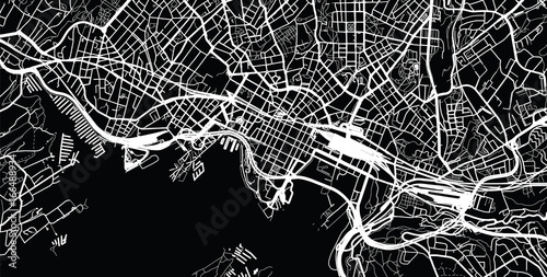 Fototapeta Urban city map of Oslo, Norway