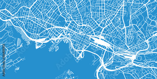Urban city map of Oslo, Norway Fototapet
