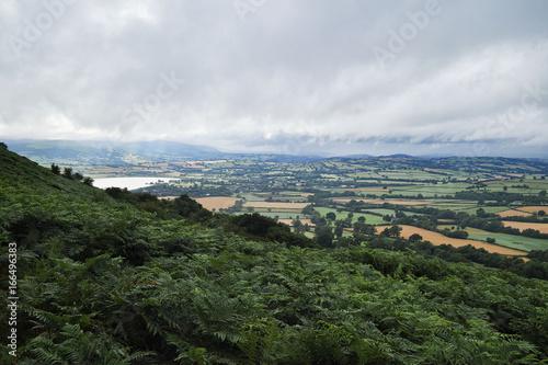 Aluminium Prints Los Angeles Mynydd Llangorse, Llangorse and Llangorse Lake, Brecon Beacons, Powys, Wales as seen from Mynydd Troed