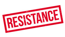 Resistance Rubber Stamp. Grung...