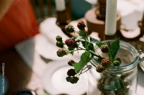 Blackberry as a part of table setting