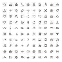 User Interface Symbols, Thin L...