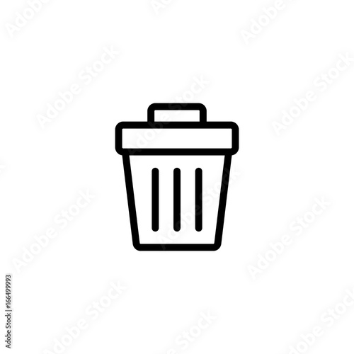 Fototapety, obrazy: thin line trash bin icon on white background