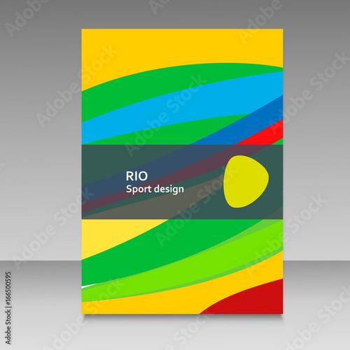 Brochure in colors of Brazil flag Poster