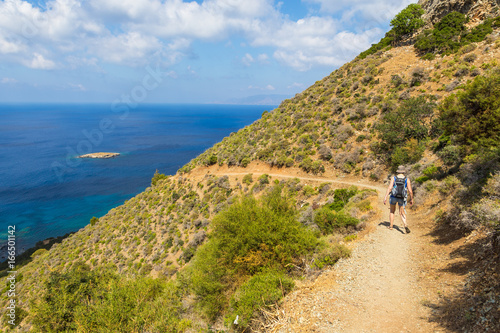 Foto op Plexiglas Cyprus Walking in the mountains along peninsula of Akamos, Cyprus