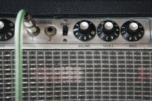 Control Knobs On Old Amplifier