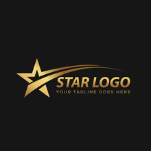 Gold Star Logo With Black Background
