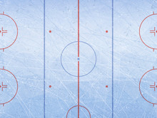 Vector Of Ice Hockey Rink. Textures Blue Ice. Ice Rink. Vector Illustration Background.