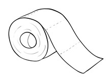 Toilet Paper Roll Vector Symbo...