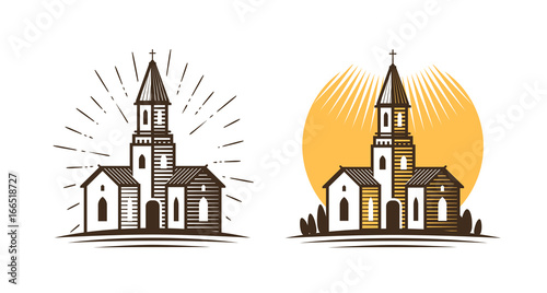 Tablou Canvas Church logo